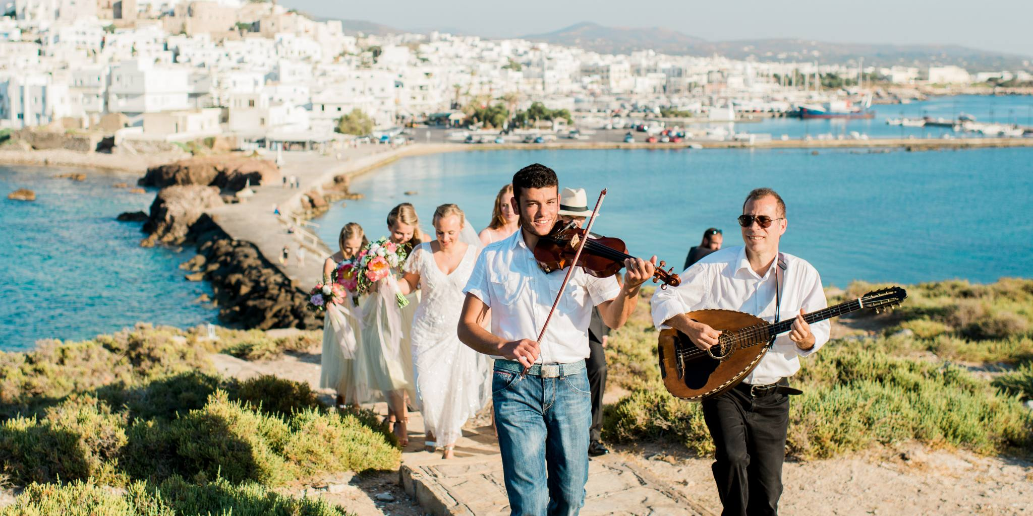 Violin wedding in Naxos
