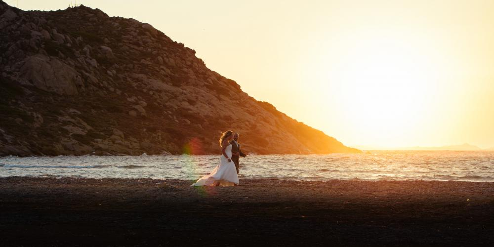 Kostas & Cecilie with Zoey: A Greek Wedding and Baptism  Church of Pantanassa
