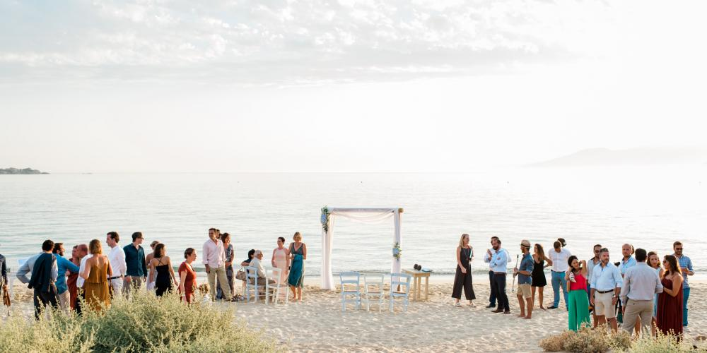 Panos & Ibiza: A Civil Wedding Plaka Beach