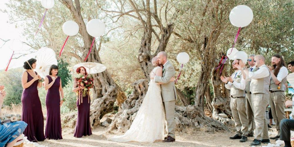 Kieran & Melissa: A Civil Ceremony in the Wilderness Saint Isidoros, Damarionas