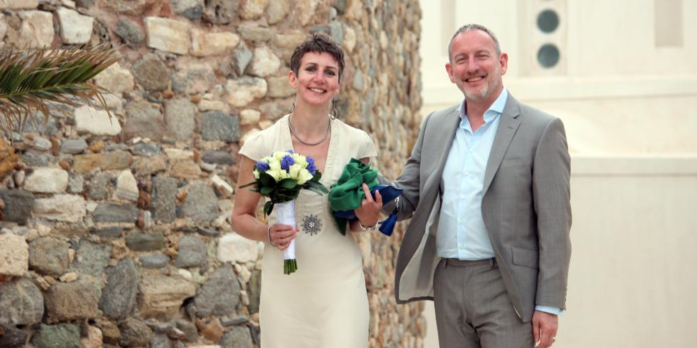 Keith & Katharine: An Elegant Civil Wedding In the Old City of Naxos