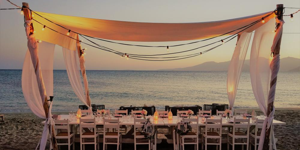 Evan & Lindsey: A Symbolic Ceremony on the beach Agia Anna, Naxos