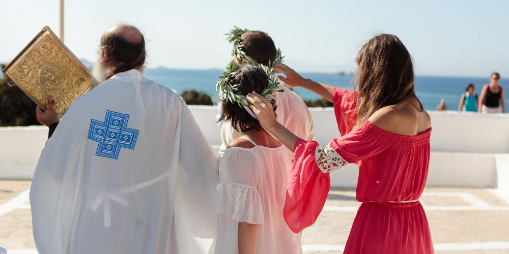 Andrei & Mihaela: Double Ceremony in Naxos Church of Agios Nikolaos