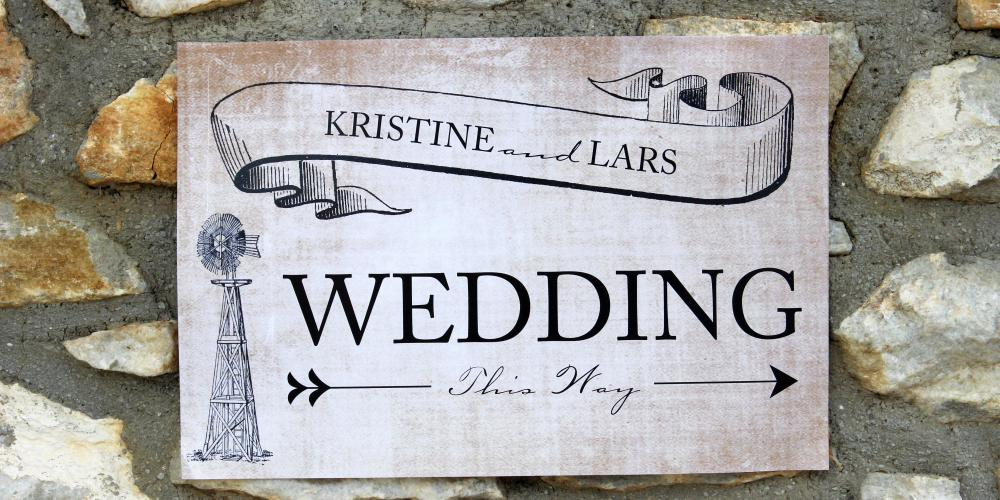 Lars & Kristine: A Garden Civil Wedding A Vintage Garden Setting