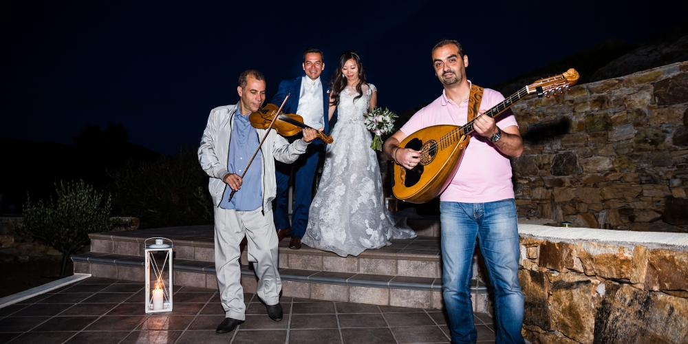 George & Yutong: A Greek Orthodox Wedding at Agio Nikolao in Agia Anna